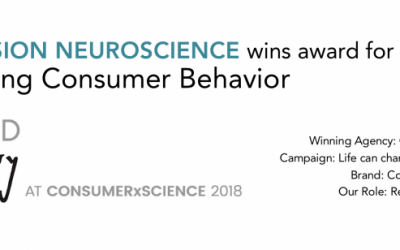 ImmersionNeuro Wins Award for Changing Consumer Behavior